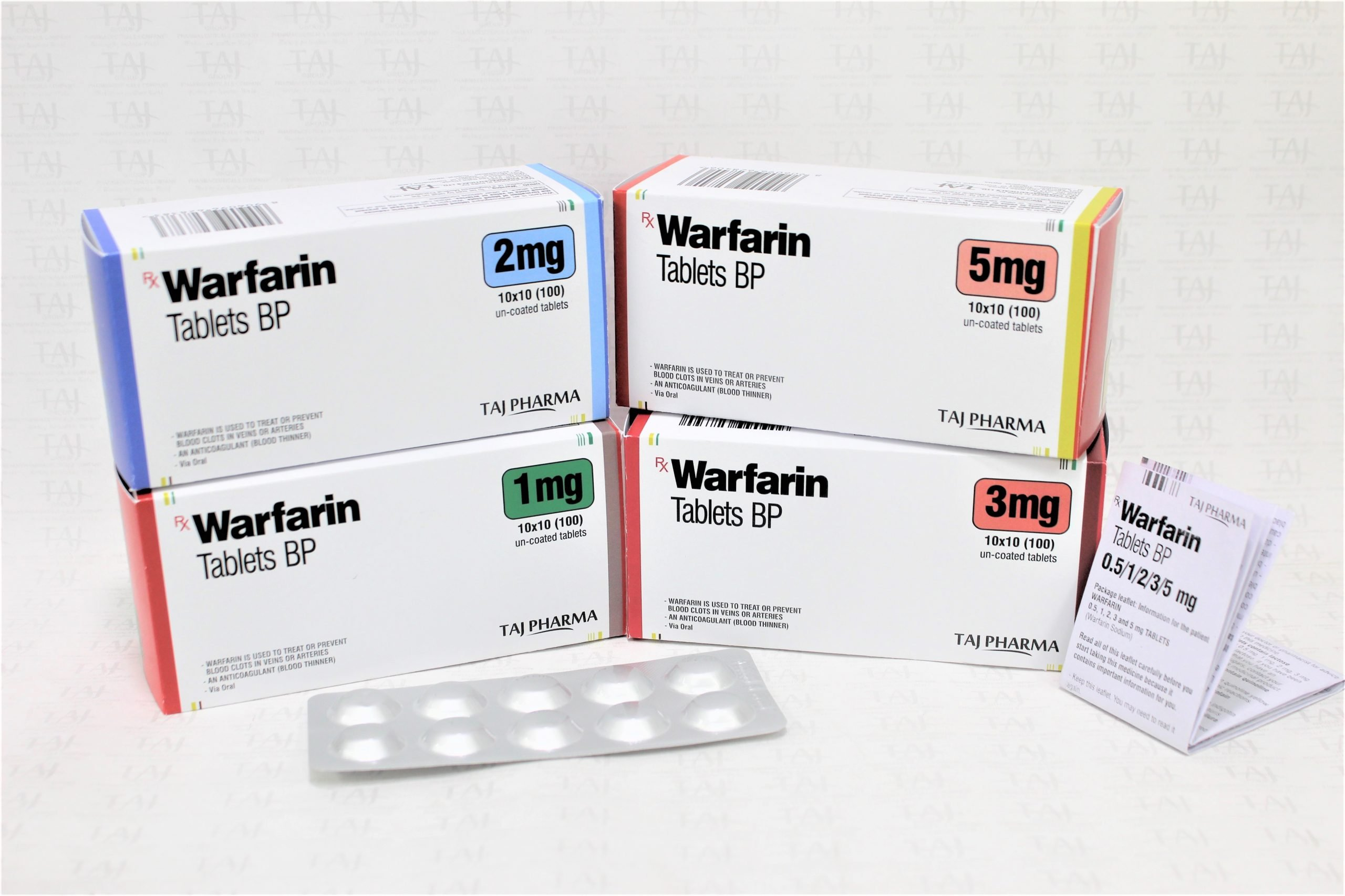 Taj Pharma India team has an excellent expertise in manufacturing and export of Warfarin sodium tablets.